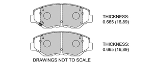 View Brake Pads with Plate #D914