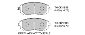 View Brake Pads with Plate #D929