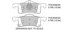 View Brake Pads with Plate #D935