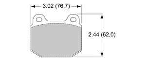 View Brake Pads with Plate #D961