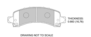 View Brake Pads with Plate #D974