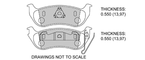 View Brake Pads with Plate #D981