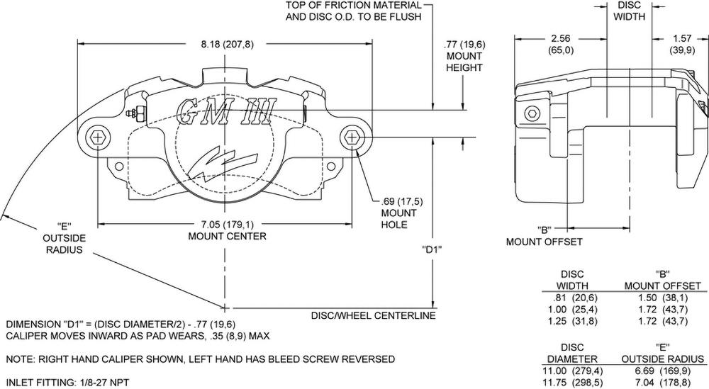 Wilwood Disc Brakes - gm single piston gm iii single piston floater ...