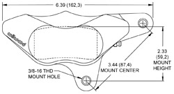 Dimensions for the GP310 Motorcycle Front (1984-1999)