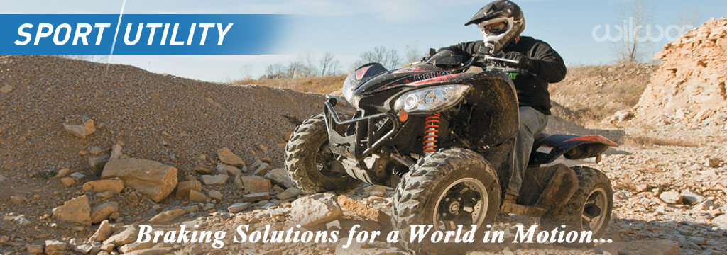 Sport Utiltiy & All-Terrain-Vehicle Disc Brake Applications