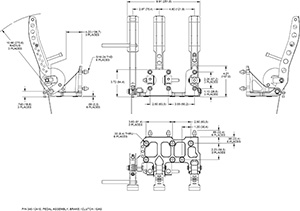 Brake / Clutch and Throttle Pedal Drawing