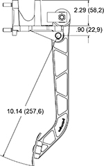 Replaces cast aluminum arm pedal 340-5180 Drawing