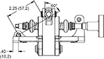 Remote fill master cylinders are required with this unit and are ordered separately by type and bore size. Compact remote flange mount master cylinders are recommended Drawing