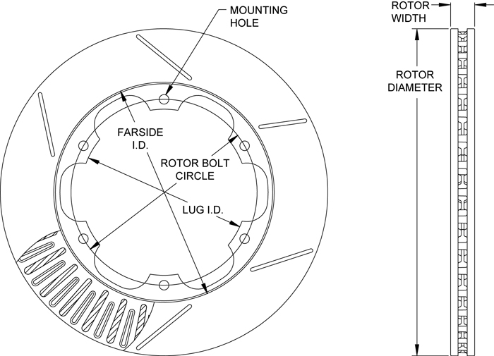 GT 72 Straight Vane Rotor Drawing