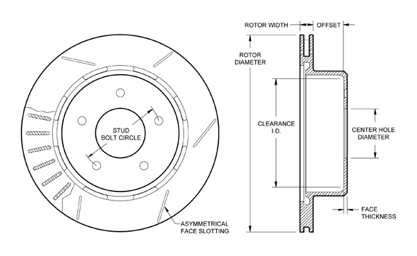 wilwood disc brakes rotor no 160 8743. Black Bedroom Furniture Sets. Home Design Ideas