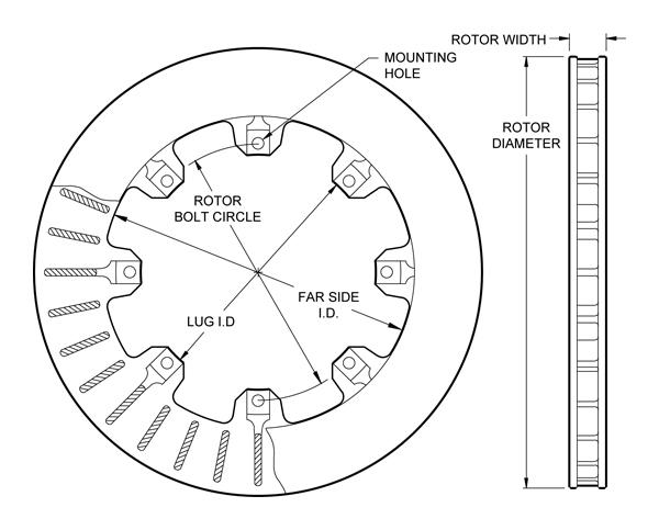 wilwood disc brakes rotor no 160 5841. Black Bedroom Furniture Sets. Home Design Ideas