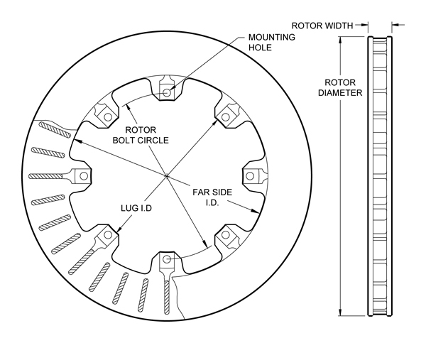 Brake Rotor Diagram
