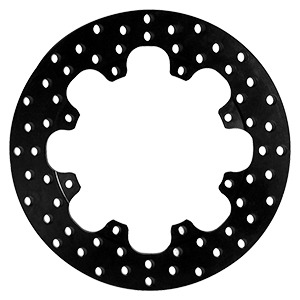 Drilled Steel Rotor - Steel - Black Oxide