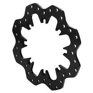 Drilled Steel Scalloped Dynamic Mount Rotor