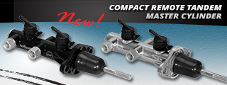 Compact Remote Tandem Master Cylinders