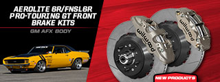 Aerolite 6R/FNSL6R Pro-Touring GT Front Brake Kits for GM AFX Body