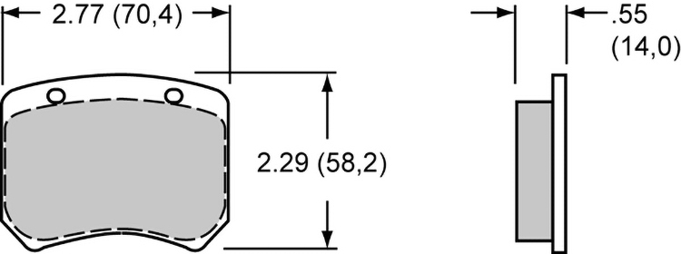 Pad Dimensions for the WLD-20/ST