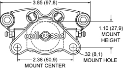 GP200 Caliper Caliper Drawing