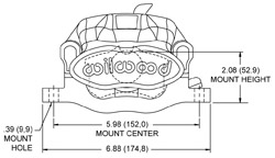 Combination Parking Brake Caliper Drawing