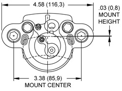 DH4 Dual Hydraulic Caliper Drawing