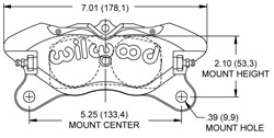 Dynapro Lug Mount Caliper Drawing