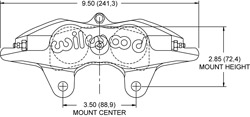 Forged Superlite Internal 4 ST Caliper Drawing