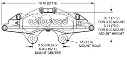 Grand National III Caliper Drawing