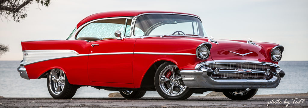 Chevy Tri-Five 1957 Red Bel Air